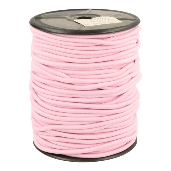 Koordelastiek 3mm Roze