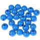 """Houten kraal 18 mm """"babyproof"""" Middenblauw"""