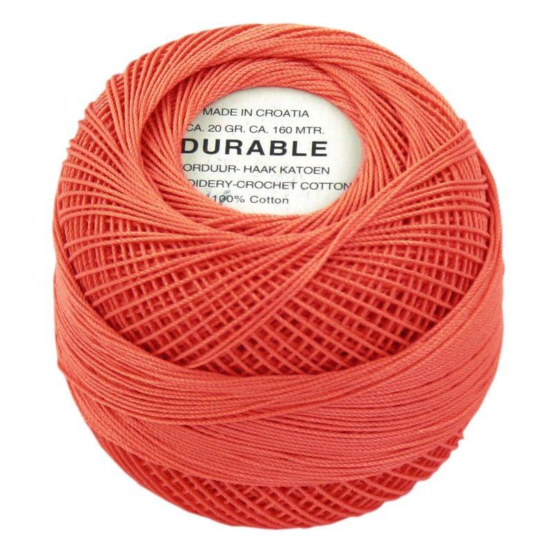 Durable borduur en haakkatoen Koraal Oranje/ Zalm 1029