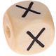 Houten Letterkraal gegraveerd 10mm   - X -
