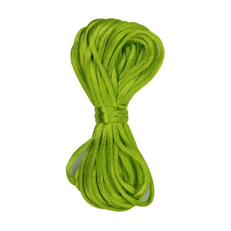 Kumihimo Satijnkoord 2mm Licht Groen