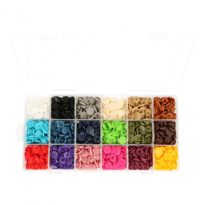 Color snaps - Kamsnaps rond doos mat