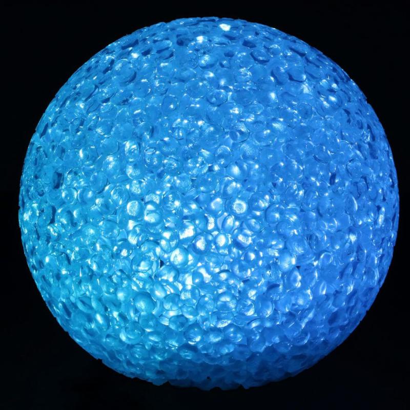 LED lichtbal - lichtbol 8cm Multi kleuren voor Bizzy Bee party haken