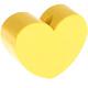 Houten kraal hart pastelgeel effen ''babyproof''