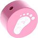 Houten kraal babyvoetjes roze ''babyproof''