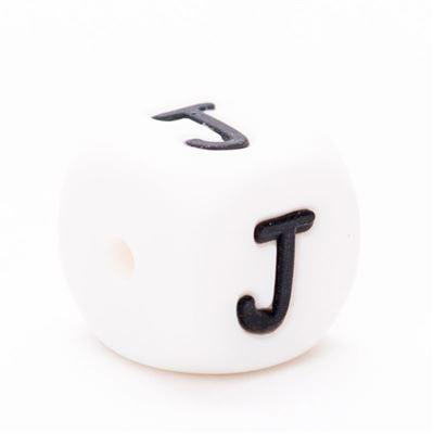 Siliconen letterkraal  - J