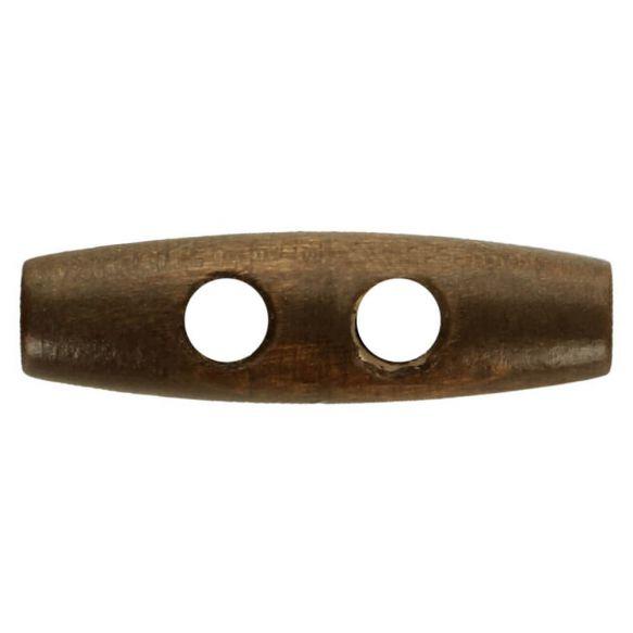 Houtje touwtje (knebel) knoop bruin 40mm