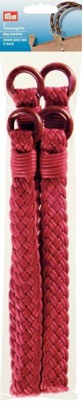 Gevlochten Tasgreep Prym rood