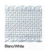 Aida borduurband 3 cm breed wit