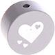 Houten kraal hart lichtgrijs ''babyproof''