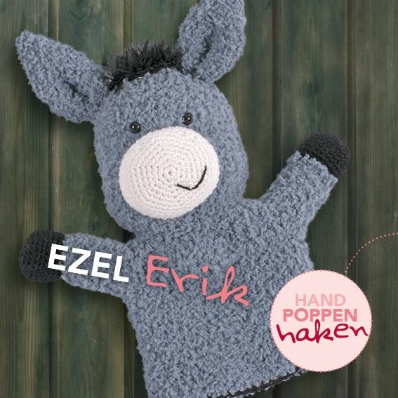 Haakpakket Ezel Erik uit boek Handpoppen haken Cute Dutch
