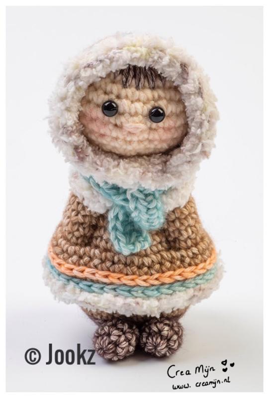 Koukleumpje mini eskimo garen en fournituren pakket