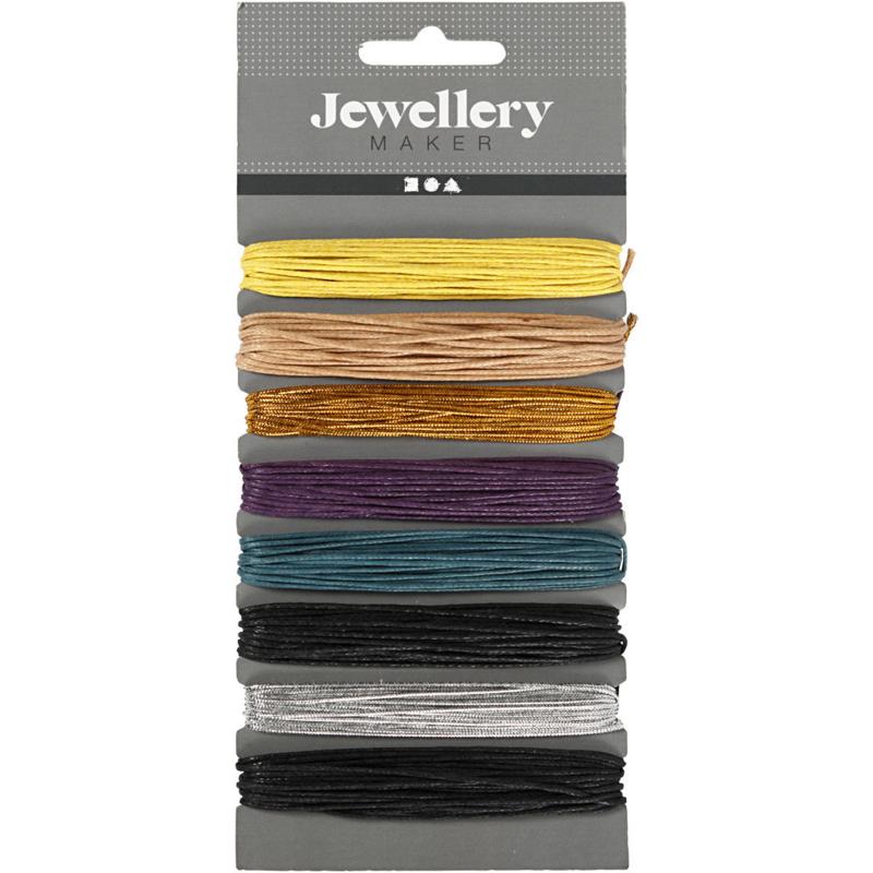 Wax katoenkoord dikte 1mm Winter kleuren 8 x 5 meter.