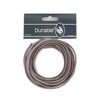 Durable Waxkoord 2mm - 5 meter - Antraciet