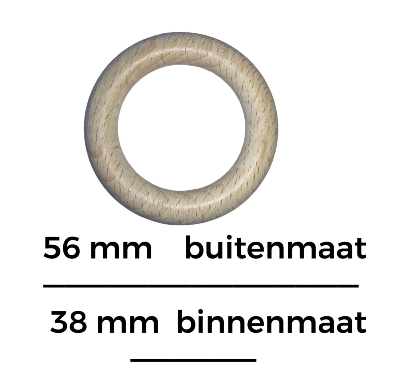 Houten ring  56mm x 9mm