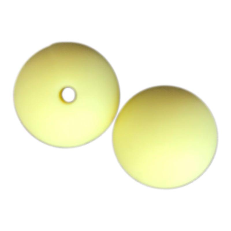 Losse siliconen kraal 20mm Lichtgeel