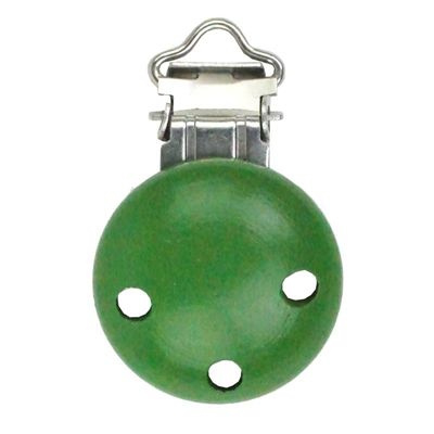 Houten speenclip Groen klein