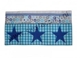 lakentje ledikant aqua, kobalt blauw (jeans) en grijs met sterren