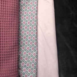knuffelkonijn oud roze, grijs en zacht roze