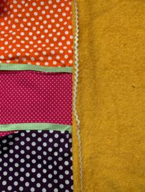 aankleedkussenhoes geel, roze, paars en oranje