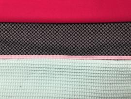 verjaardagskroontje roze, mintgroen en zwart met CB hoesje geel, zwart