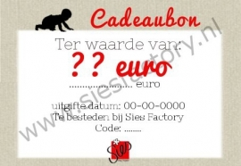 CADEAUBON T.W.V 50 EURO