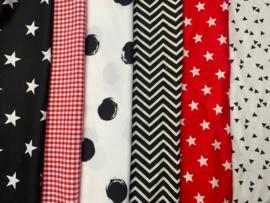 boxkleed zwart wit en rood