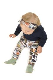 Broekje met polaroid 'foto's (excl haarband)