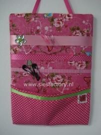 memobord / haarspelbord met zakje, roze