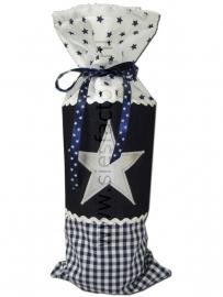 Kruikzak donker blauw met spijkerstof en zilveren ster