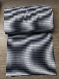 boordstof zwart wit streep