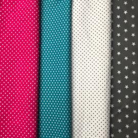 Boxkleed vlakverdeling roze, turquoise grijs en wit