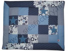 Boxkleed donker blauw, jeans-blauw en wit met sterren