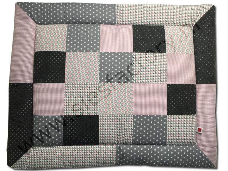 ACTIE Boxkleed 80x100 cm oud roze, donker grijs, grijs