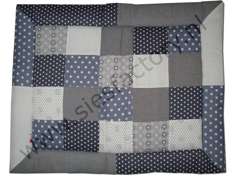 Boxkleed 80x100 cm donker grijs, grijs, wit en zwart