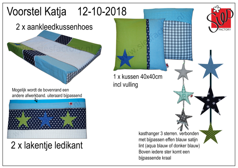 Babykamer Groen Blauw.Babykamer Aankleding Aqua Blauw Groen Donker Blauw In