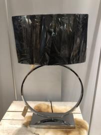 lamp zilver ronde uitvoering