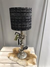 Lamp zilver bladderen