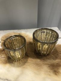 Waxinelichthouder goud gr
