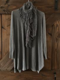 Trui met sjaal grijs