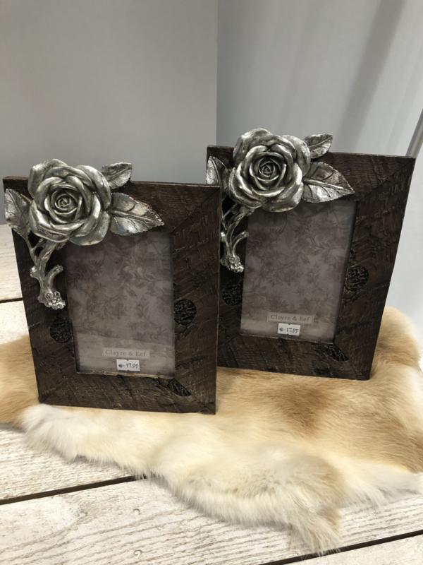 Foto lijst roos
