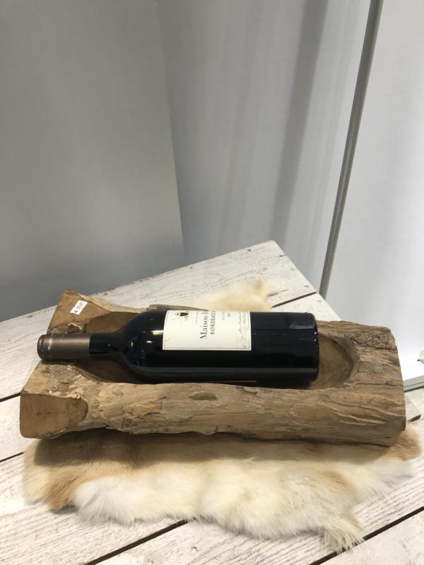 Fles houder hout