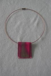 halssieraad, in rose/grijs
