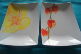 serveerschaal beschilderen