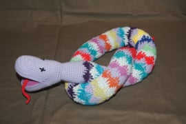gehaakte slang, multicolor