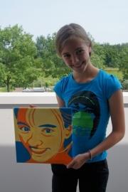 Pop art portret