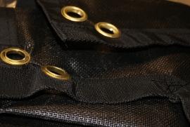 Gaasdoek zwart | Fijnmazig