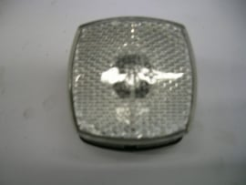 Breedtelamp + reflector vierkant wit