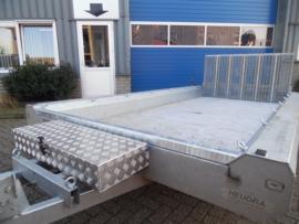 Verlaagde aluminium gereedschapskoffer voor Terrax machinetransporter