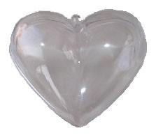Hart plastic met oog hersluitbaar 6cm